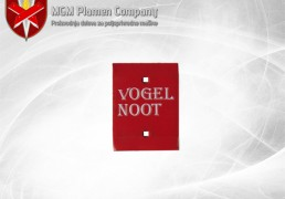Peta plaza Vogel Noot original